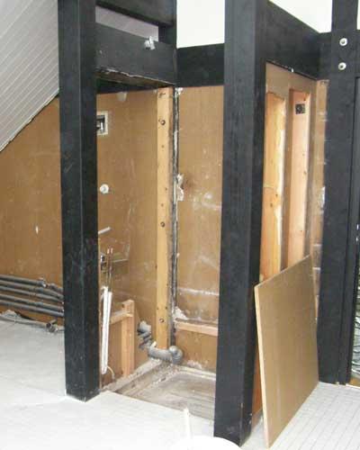 Umbau zum Designbad-Abrissarbeiten für Ebenerdige Dusche
