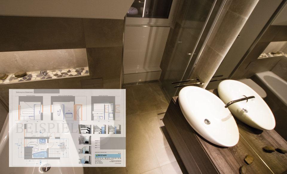 Planung von Badplaner eines Designbades in Duesseldorf Knittkuhl